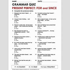 8 Best Since For During Images On Pinterest  English Grammar, English Class And English Classroom