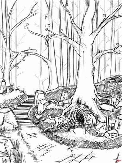 Forest Magical Sketch Deviantart Favourites Login