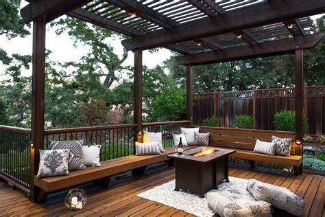 deck  patio combination creates ideal backyard