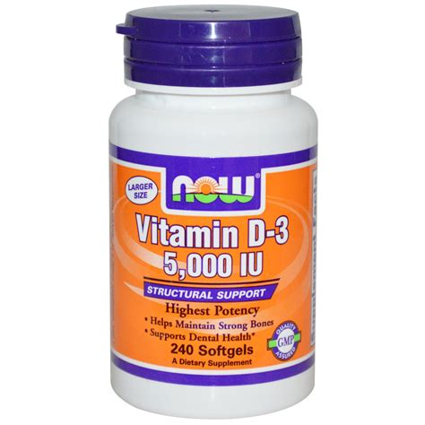 vitamin d l now foods vitamin d 3 5 000 iu 240 softgels iherb