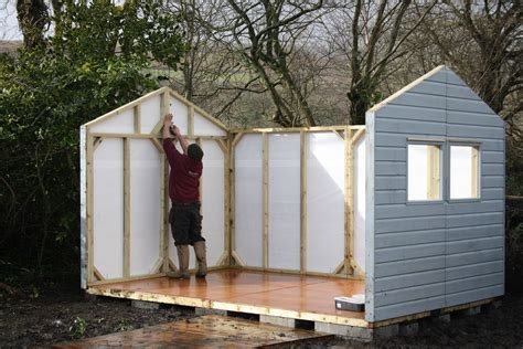 Shed building. The Wooden Workshop, Bampton, Devon.   The