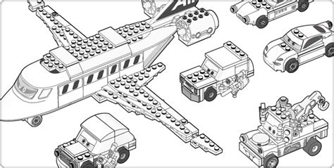 Transport Lego Coloring Pages