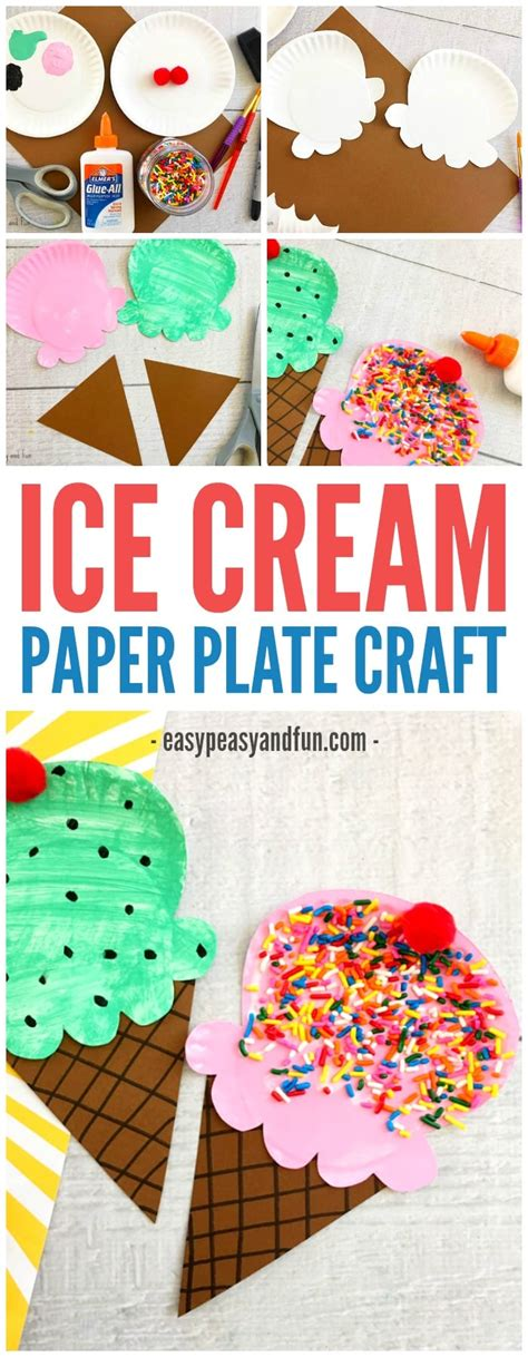 paper plate craft summer craft idea for 414 | Fun Paper Plate Ice Cream Craft for Kids