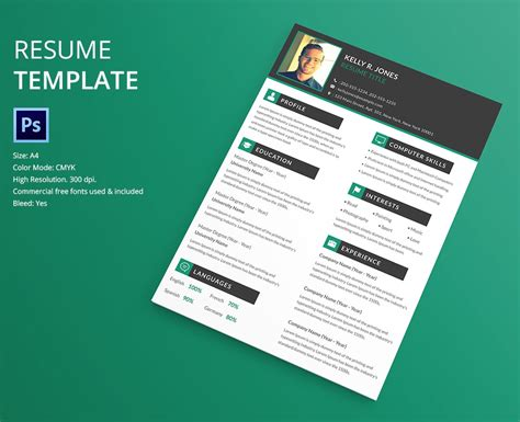 resume template designs  psd ms word