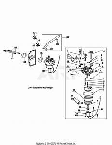 Mtd 4p90jua Engine Parts Diagram For 4p90jua Carburetor