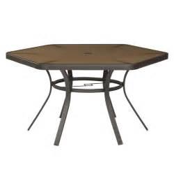 garden treasures hayden island patio hex dining table