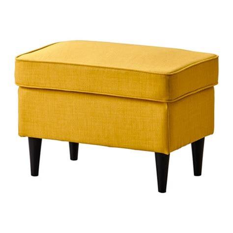 repose pied bureau ikea strandmon ottoman skiftebo yellow ikea
