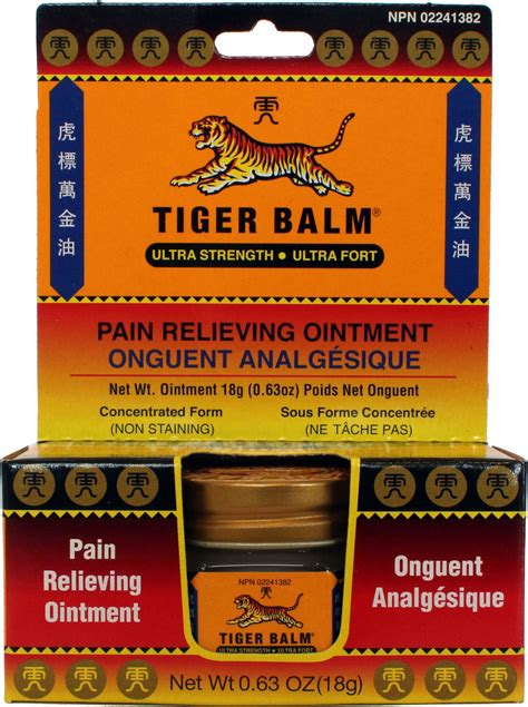 tiger balm pain relieving ointement ultra strength