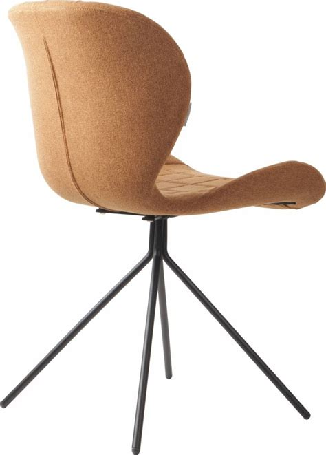 zuiver chaise zuiver dining chair omg camel brown 50x56x80cm