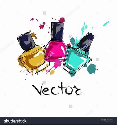 Nail Polish Vector Manicure Shutterstock Beauty Illustration