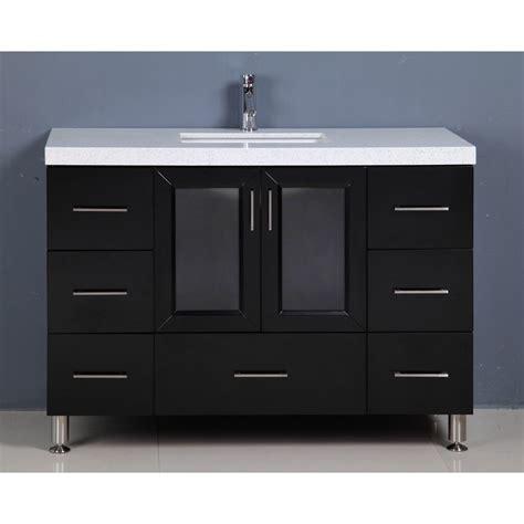 single sink vanity to double sink design element 48 quot westfield single sink vanity espresso
