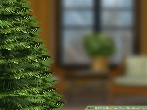 repel cat christmas tree 3 ways to cat proof your tree wikihow