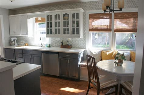 gray kitchen white cabinets remodelaholic gray and white kitchen makeover with