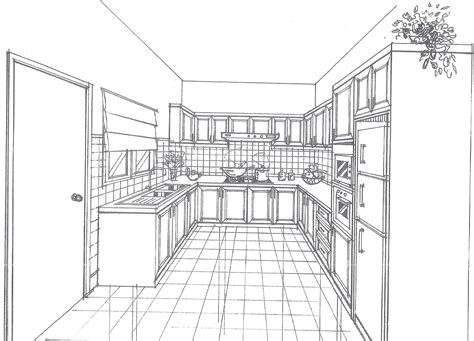 Kuche Zeichnung by Carpentry And Renovation Works 2d Drawing