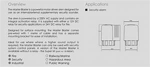 Klaxon Master Blaster 127db Security Solution