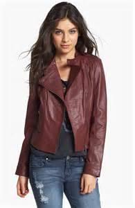 Oxblood Leather Jacket Women