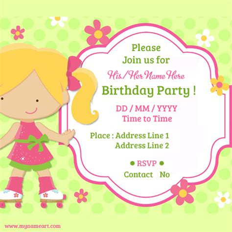 Awesome Party Invitation Card Maker Child Birthday Party