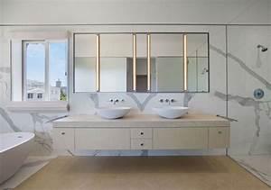 Meuble Salle De Bain Marbre : carrelage salle de bain marbre blanc en 24 belles images ~ Teatrodelosmanantiales.com Idées de Décoration