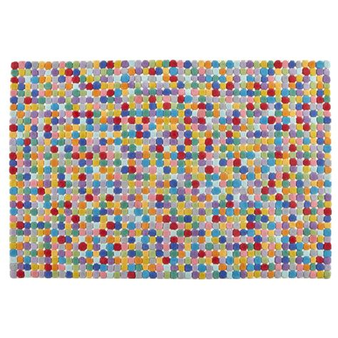 multi colored polka dot wool rug  land  nod