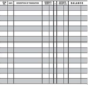 easy read checkbook transaction register large print check book