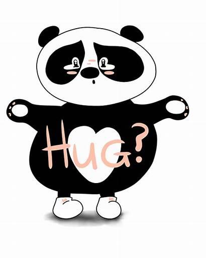 Panda Hug Sorry Bear Sad Clipart Adorable