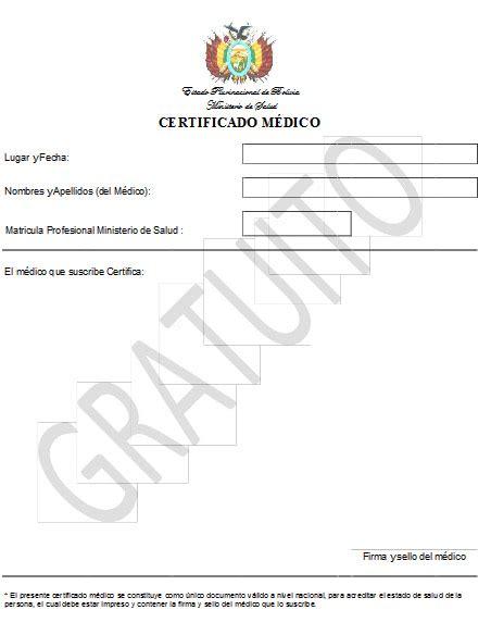 gobierno anula pago del certificado medico  lanza el formulario gratuito