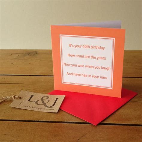 Loving you is loving myself, because our love makes us one. Funny 40th birthday card rude birthday card by LuckJudgementGifts