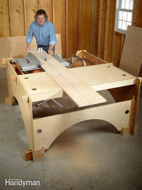 make a table saw table diy table saw table the family handyman
