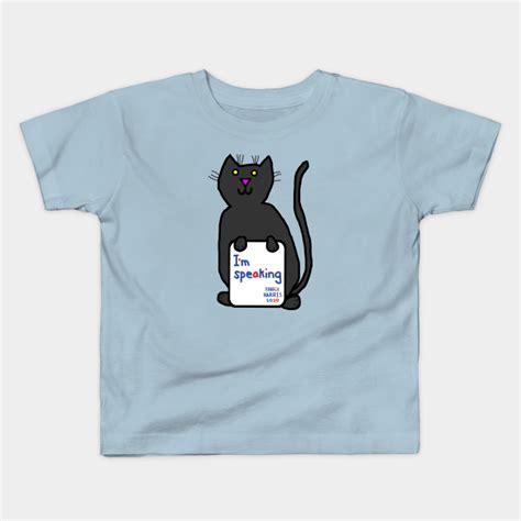 Kamala devi harris was born in oakland, california, on october 20, 1964. Cute Cat with Kamala Harris VP Debate Quote - Kamala Harris - Kids T-Shirt   TeePublic