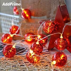 3m, 20, Led, Red, Ball, String, Light, Garland, Led, Lights, For, Christmas, Tree, Decor, Fairy, Light, New, Year