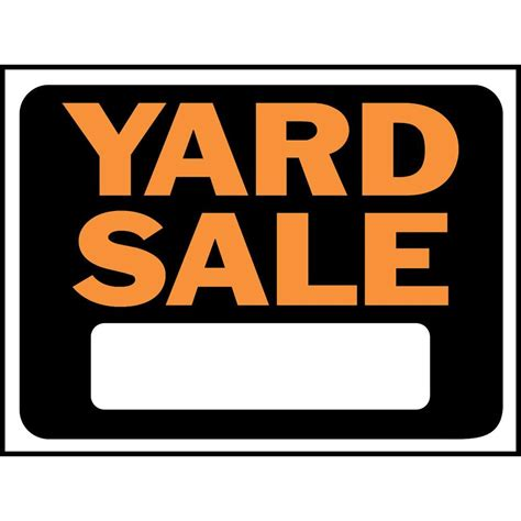 garage signs home depot hy ko 9 in x 12 in plastic yard sign 3033 the home