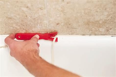 tile in bathroom ideas caulk remover how to remove caulk diy bathroom