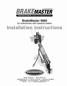 Installation Instructions Brakemaster 9060 For Motorhomes