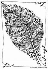 Coloring Feather Pages Abstract Drawings Letscolorit Adults Zentangle Colouring Feathers Line Books Shape sketch template