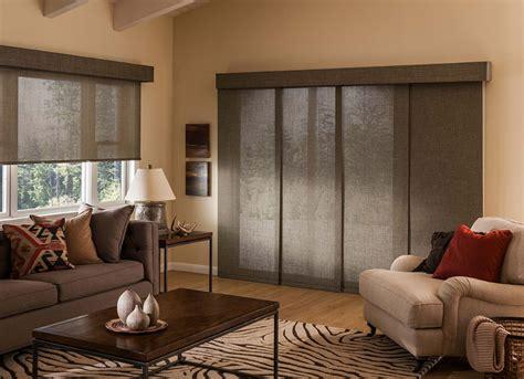 sliding panel blinds wood panel honeycomb custom shades peak window