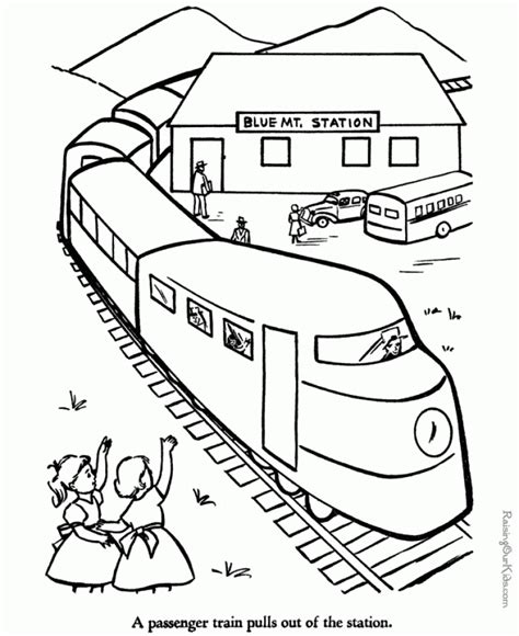Get This Train Coloring Pages to Print for Kids 11759