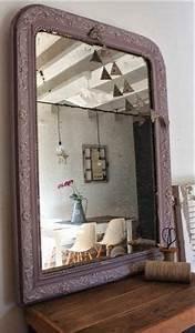 Grand Miroir Noir Grand Miroir Ancien Cadre En Dorure D