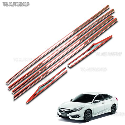 Window Sill Liner by Line Window Sill Set Chrome 4dr Cover Trim For Honda Civic