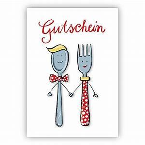Text Gutschein Essen : 1 grusskarte liebevoller gutschein zum essen mit herrn und frau l ffel und gabel ~ Markanthonyermac.com Haus und Dekorationen