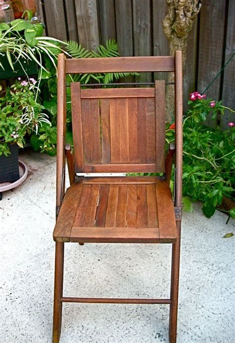 vintage wooden folding chair vintage chairs  wooden