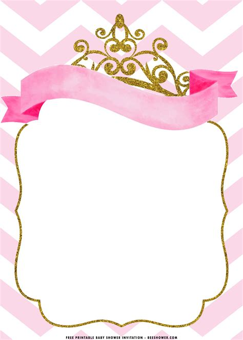 printable royal princess baby shower invitation
