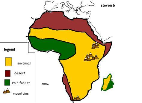 Map Of African Savannah