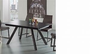 Table à Manger Noire : table a manger extensible noire ~ Teatrodelosmanantiales.com Idées de Décoration