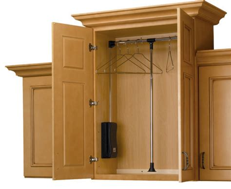 rev a shelf adjustable pull closet rod traditional