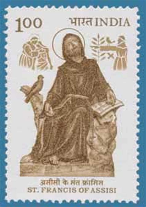 st francis of assisi birth date postal sts of india issued in 1983