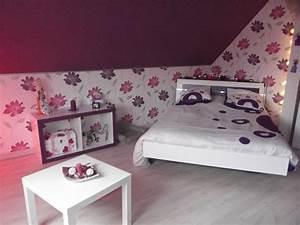 chambre prune blanc et fushia photo 5 6 3515502 With chambre fushia et blanc