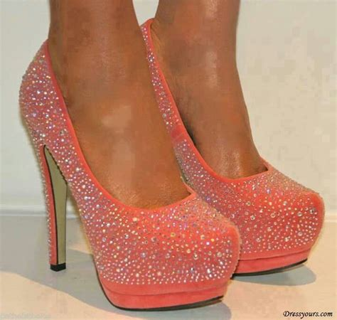 Sparkly Melon Stilletos Stiletto Heels Heels Fashion Shoes