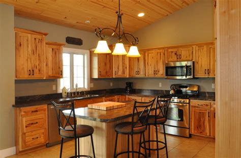 top kitchen cabinets country style rustic hickory farmhouse kitchen 6305