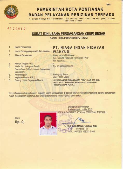 legalitas hukum perusahaan pt niaga insan hidayah
