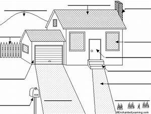 Label The House  Das Haus  In German Printout